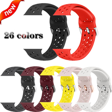 цена на Sport loop strap for apple watch band 4 44/40mm silicone bracelet for iwatch series 3 2 1 38/42mm breathable wristband accessory