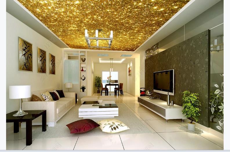 3D Murals Wallpaper Gold Wallpaper For Walls 3 D European Living Room Bedroom Wall Murals Home Decror