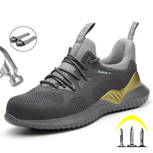 Work Sneakers Safety Indestructible Shoes Steel Toe Work Safety Boot Anti-punctu