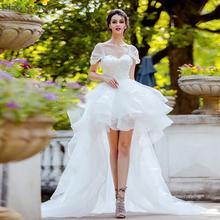 Чистый белый платье для выпускного вечера развертки Поезд Тюль