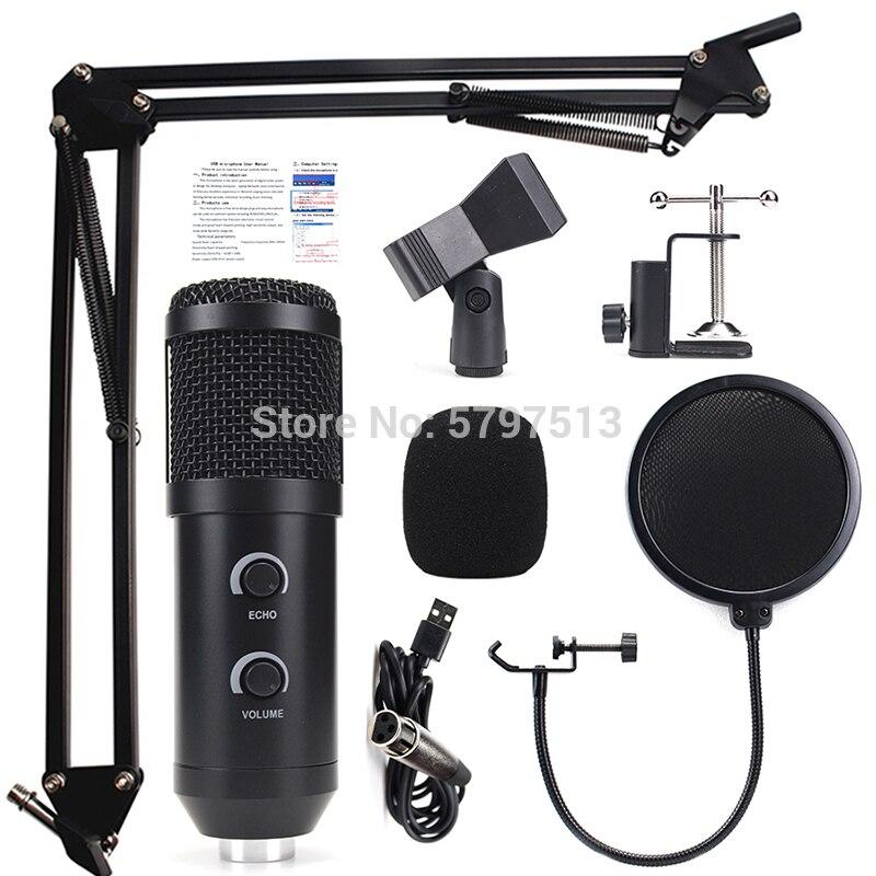 Bm900 ensemble de micro de studio à condensateur enregistrement professionnel bm 800 bm800 microphone usb avec écho numérique et réglage du volume