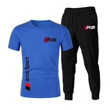 2021 venda quente verão camiseta rs calças terno casual marca de fitness jogging calças camiseta hip hop moda masculina