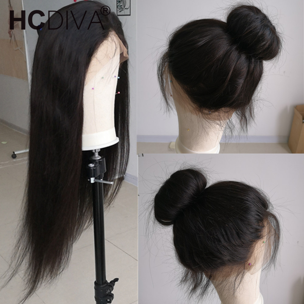 Image 5 - 360 Lace Frontal Wig Pre Plucked With Baby Hair Brazilian Straight Lace Frontal Human Hair Wig Remy Lace Wig For Black Women-in Human Hair Lace Wigs from Hair Extensions & Wigs