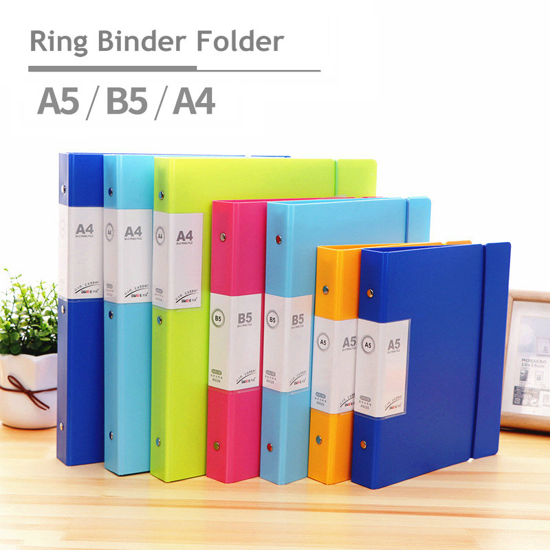 Ring Binder A4 File Organizer Transparent PVC Bag A5 Binder Ring Folder Document Organizer For Documents With Transparent Bag
