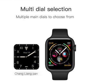 IWO 14 Lite Smart Watch 44mm Bluetooth Phone Call SMS Reloj Inteligente Heart Rate Waterproof Clock for IOS Android PK IWO 12 8