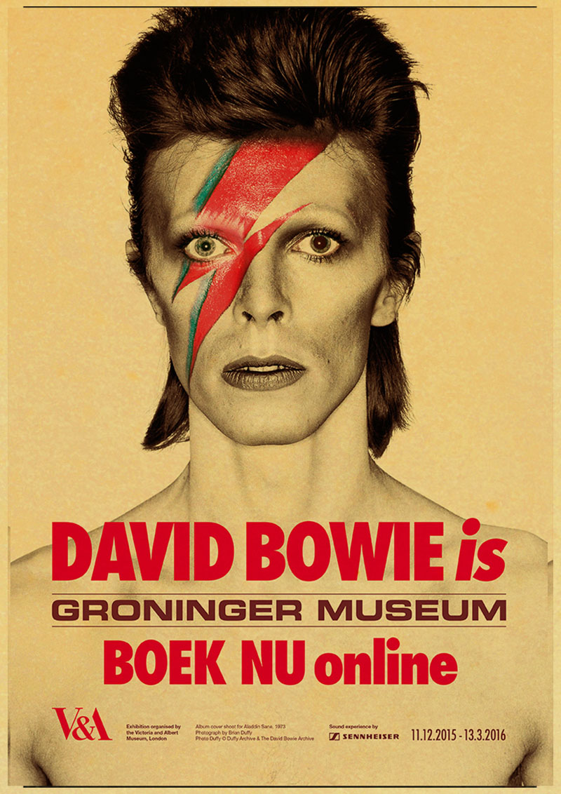 Vintage Retrò Rivista Poster A4,A3,A2, Volta David Bowie Casa Muro Stampa