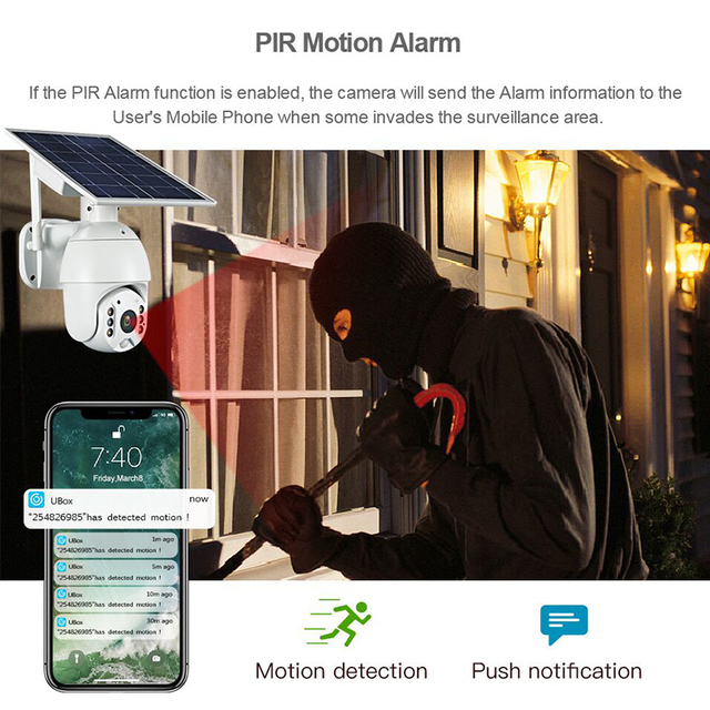INQMEGA 4G Solar IP Cameras IR vision P2P 4G sim card 5
