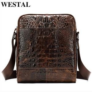WESTAL mens bag leather should