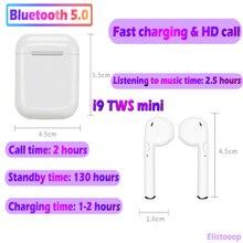 I9S TWS мини беспроводные наушники Bluetooth гарнитура бас наушники Bluetooth 5,0 стерео спортивные наушники с микрофоном для смартфона