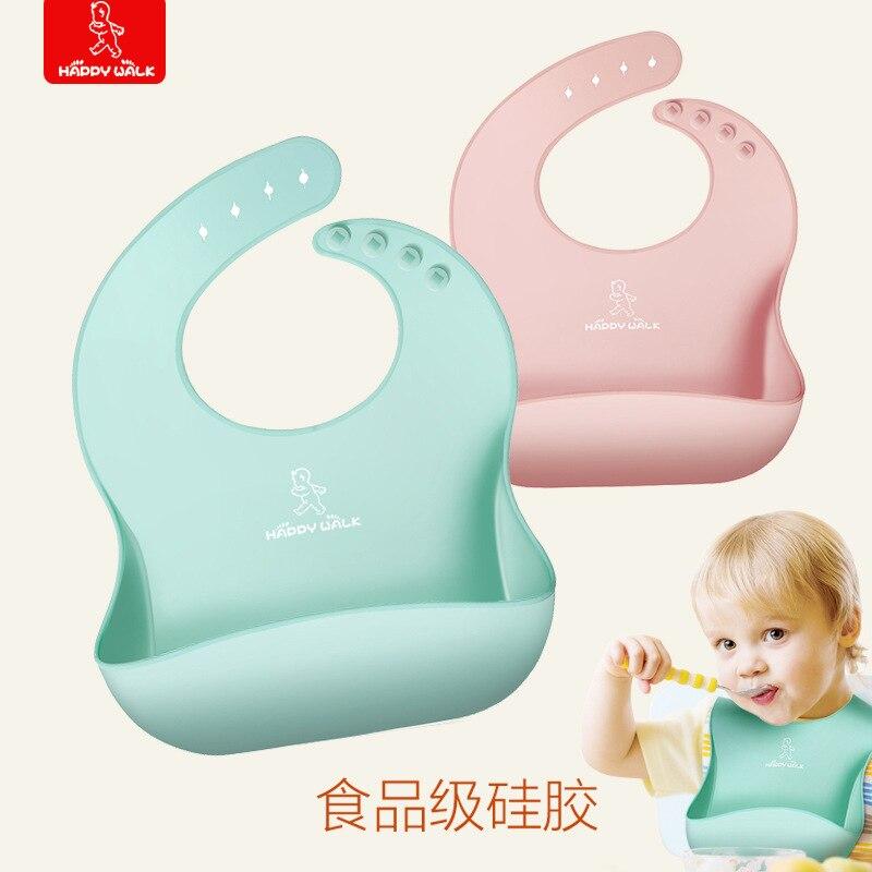 360 degree silicone three-dimensional bib, dirt-resistant rice pocket, foldable children's saliva pocket, waterproof bib
