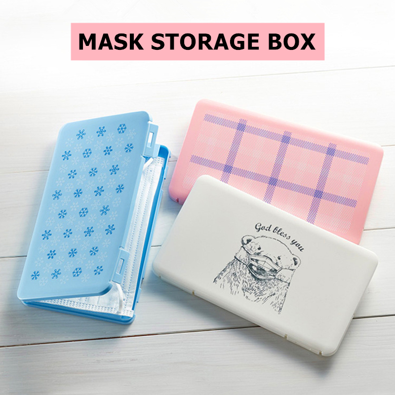 Portable Dust-proof Disposable Mask Case Face Masks Container Pollution-Free Disposable Mouth Mask Storage Box Organizer Holder(China)