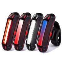 Luce per bicicletta a LED luce posteriore anteriore USB ricaricabile MTB ciclismo avviso di sicurezza torcia lampada di coda accessori per biciclette