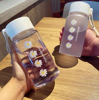 🔥 HOT 🔥 500ml Small Daisy Transparent Plastic Water Bottles BPA Free  2