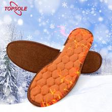 TOPSOLE Warm heating insole natural wool thickening insoles winter cold men and women insoles inserted snow boots insoles new usb warm heating insoles winter thick warm insoles for women men shoes quick warm foot battery safety insoles