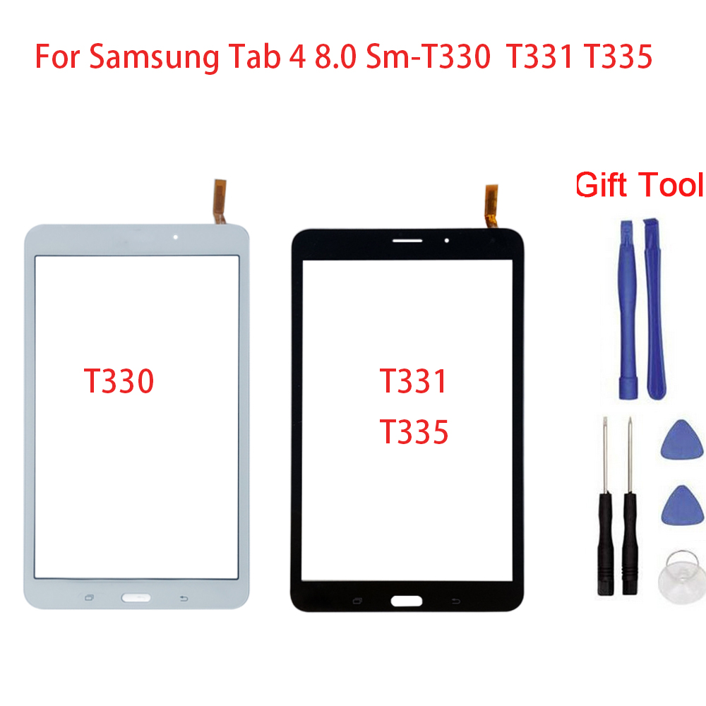 New Touch Screen For Samsung Tab 4 8.0 T330 T331 Sm-T335 Touch Screen Digitizer Front Glass Touch Panel Replacement + Tool