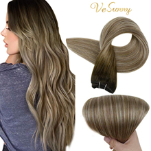 VeSunny Hair Weft Sew In Extensions Straight Human Wefts Hair Extensions 100 Percent