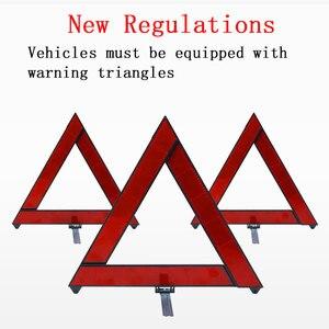 Image 3 - Автомобильный треугольный красный светоотражающий Предупреждающий Сигнал аварийной аварийности автомобильный штатив складной стоп сигнал отражатель светоотражатель