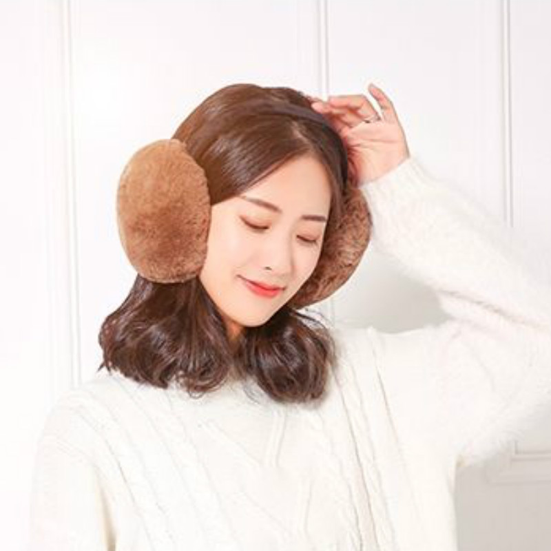 7 Colors Fashion Women  Winter Wear Men Round Plush Ear Pad Foldable Earmuffs Solid Headband Warm And Colorful  Unisex  Adult