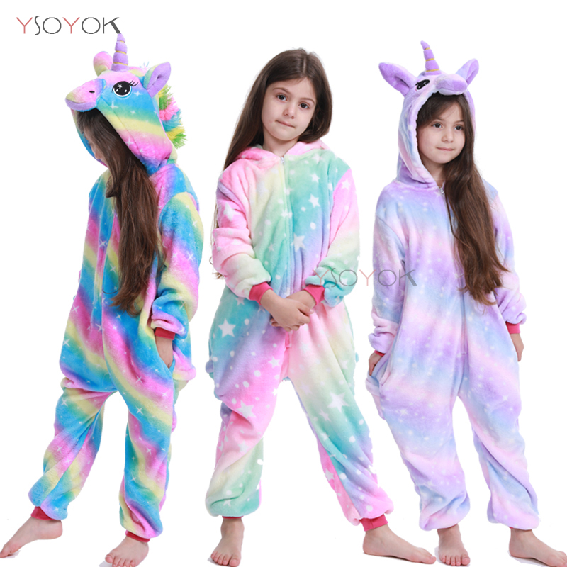 Kigurumi Pajamas Unicorn Kids Animal Licorne Onesies Winter Sleepwear Children Pajamas For Boys Girls Costume Baby Pyjamas Kids