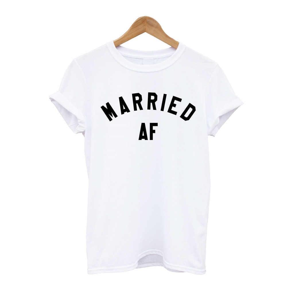 """Замуж AF футболка молодоженов рубашка Wifey муженек брака на свадьбу, Топ в стиле """"хипстер"""" для новобрачных подарок для отдыха симпатичный Топ Футболка Для мужчин Для женщин"""