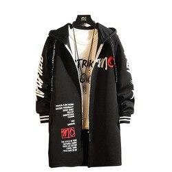 North Winter Jacket Men Trench Long Coat Steam Punk Zipper Windproof Face Slim Man Windbreaker Plus Size 3XL Autumn Jackets