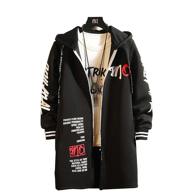 Veste d'hiver nord hommes Trench Long manteau Steam Punk Zipper coupe-vent visage Slim homme coupe-vent grande taille 3XL automne vestes