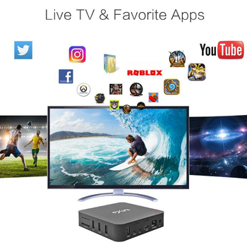 MX9 4K Quad Core 1GB RAM 8GB ROM Android 4.4 TV BOX 2.0 HD HDMI SD Slot 2.4GHz WiFi Set Top Box Media Player TV Receivers image