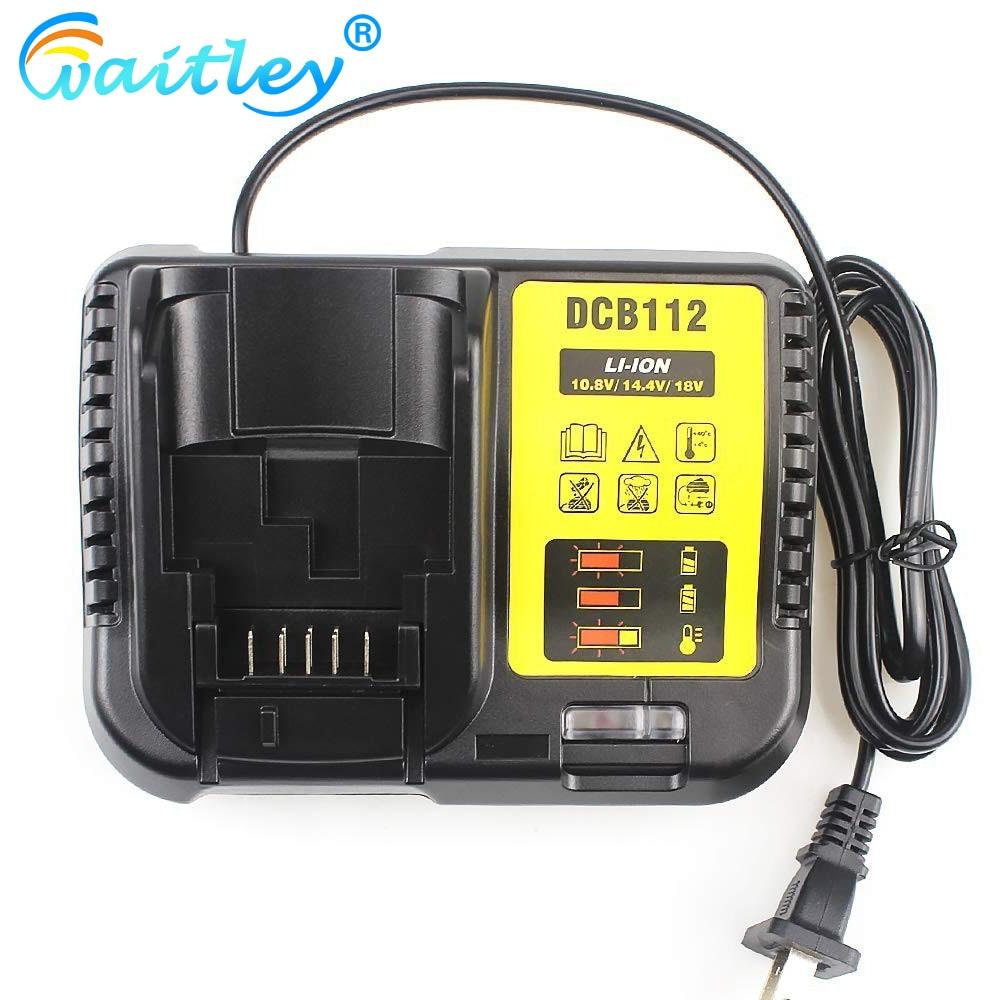 Waitley DCB112 Li-ion Battery Charger Replacement For Dewalt 10.8V 14.4V 18V EU Plug JUL14-C