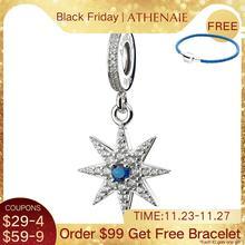 ATHENAIE 925 Silber mit Pflastern Klar CZ Funkelnden Feuerwerk Anhänger Tropfen Fit Alle Europäischen Armbänder Halskette
