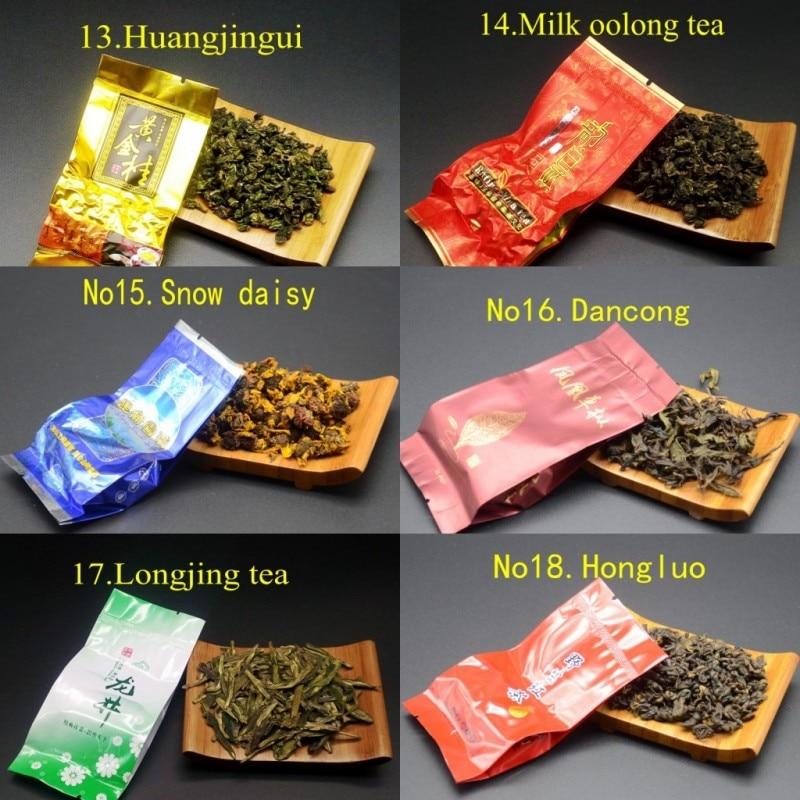 18 Different Flavors Chinese Tea Each tea Two bags Includes Milk Oolong Pu-erh Herbal Flower Black Green Tea 5