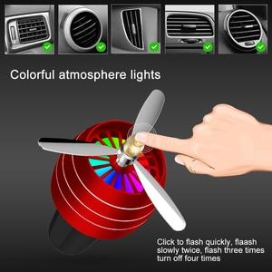 Image 3 - מיני LED רכב ריח מטהר אוויר מיזוג סגסוגת אוטומטי מכונית לשקע בושם קליפ טרי ארומתרפיה ניחוח אווירה אור