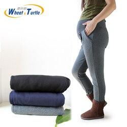 2019 горячая Распродажа, качественные хлопковые брюки для беременных, универсальные утепленные бархатные зимние штаны для беременных женщин...