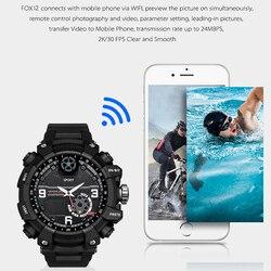FOX12 мини Камера Смарт-часы спортивные носки для использования на природе, действий WI-FI просмотра P2P Камера 2K H.264 объемом до 32 GB памяти IP67 Водон...