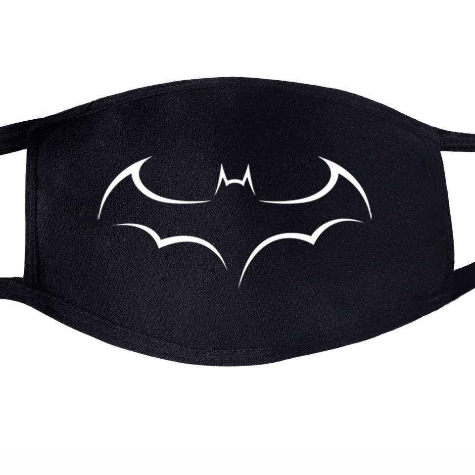 The Avengers Superhero Batman Bruce Wayne The Dark Knight Pattern Face Mask Mouth 1pcs Dustproof Unisex Anti Dust Black Masks