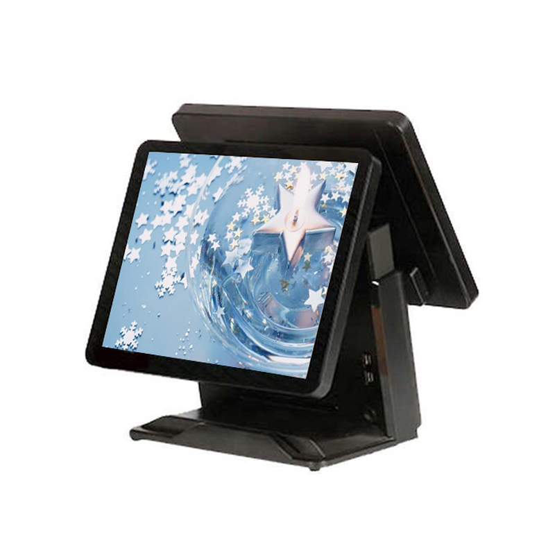 Retail <font><b>cashier</b></font> <font><b>machine</b></font> dual display 15 Inch touch screen POS terminal Point of Sales pos system image