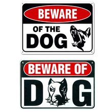 2019 Hot Selling Retro Metal Sign Vintage Bar Decor Yard Signs - 2 PCS  (Beware of Dog Signs) High Capacity Support Wholesale