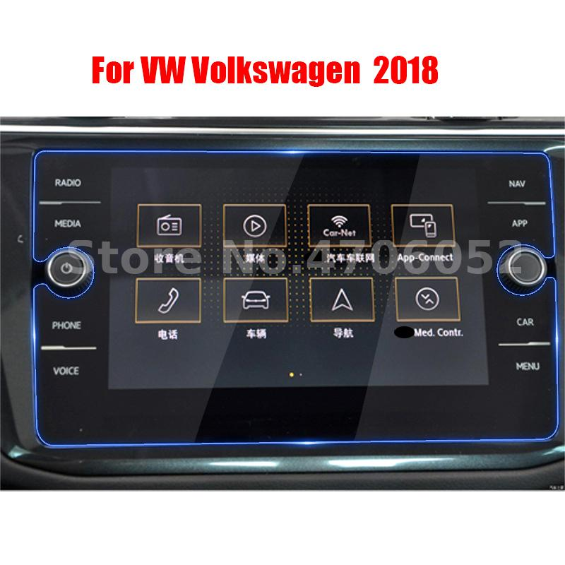 Car Tempered Glass Screen Protective Film Sticker GPS Multimedia LCD Guard For VW Volkswagen 2017-2019 Tiguan MK2 Accessories image