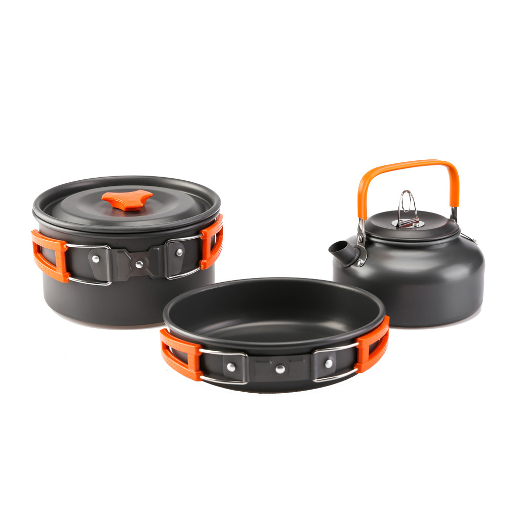 Camping Cookware Set Utensils Outdoor Cooking Kits Teapot Picnic Hiking Camping Tools Kitchen Pots Set Dishes Tableware