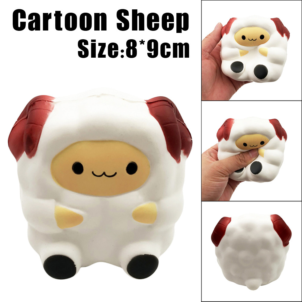 Anti-Stress Cartoon Cute Sheep Squishy Toys Slow Rising Cream Scented Decompression Toy Doll Birthday Gift Funny Squeeze Toys