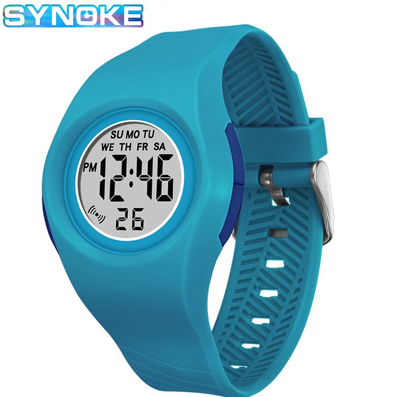 SYNOKE Kids Digital Watches Sports Colorful Luminous Alarm Clock Chronograph Children Wristwatch Repeater Boys Girls Gifts|Children's Watches| |  - title=