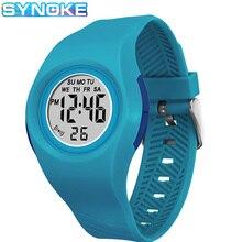 SYNOKE Kids Digital Watches Sports Colorful Luminous Alarm C