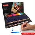 Crayons de couleur en bois solubles dans l'eau professionnels 12 24 36 48 72 couleurs noyau souple de première qualité pour les fournitures d'art d'esquisse de dessin d'école
