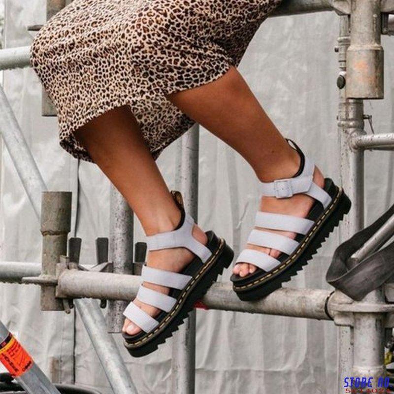 women summer plus size flats sandals wedges shoes woman gladiator PU leather flatform sandalias mujer sapato feminino D459