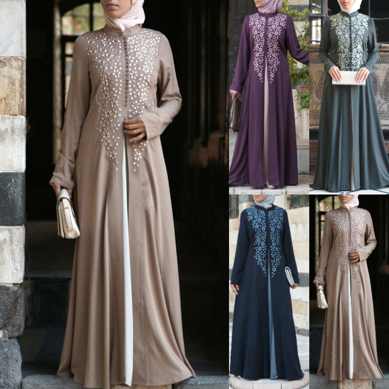 Siskakia Bangladesh Dubai Abaya Women Pakistan Muslim Turkish Caftan Moroccan Islamic Evening Dresses Fake 2 Pieces Abaya Dress