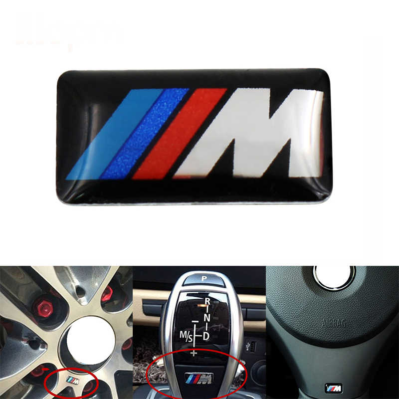 1 Pcs Auto Volante Sticker Car Interior Accessori Auto Adesivo per Bmw M Sticker X1 X3 X4 X5 X6 x7 E46 E90 F20 E60 E39 F10