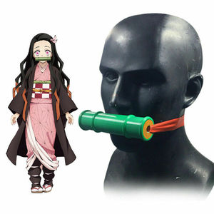 Image 1 - Japanese Anime Demon Slayer Kamado Nezuko Props Cosplay Hand Made Kimetsu no Yaiba Sealing Bamboo Tube Mouth Stick