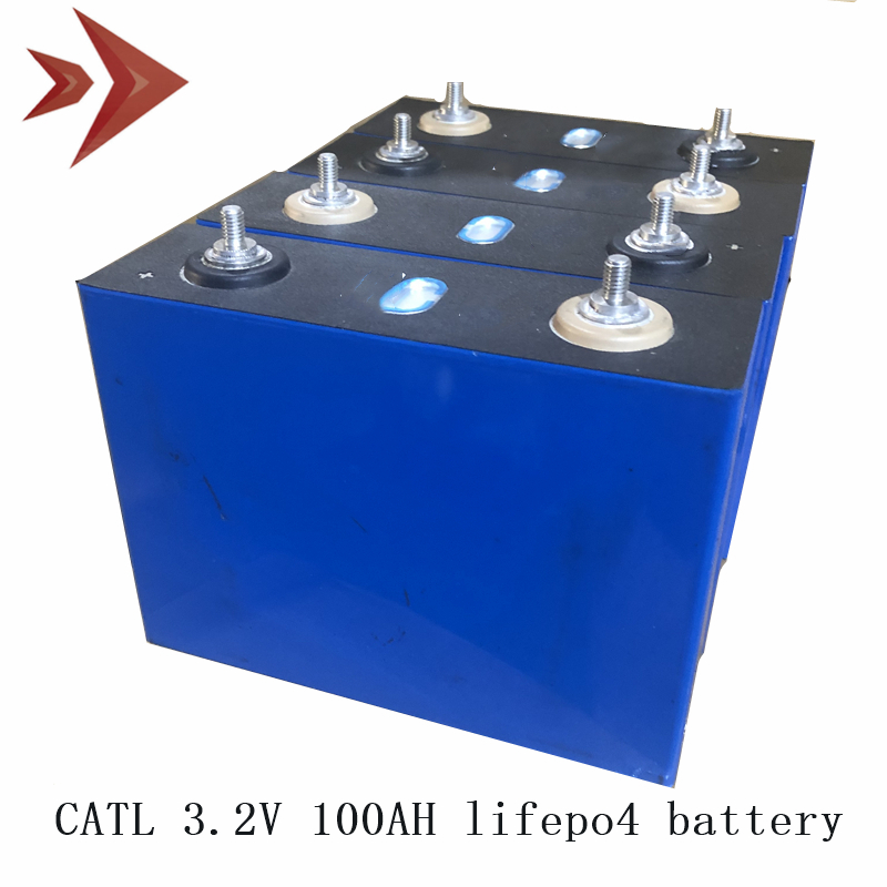 4PCS Lifepo4 Battery CATL Lithium Ion Batteries Cell 3.2V 100Ah for 12V 48V 72V Lifepo4 Battery Pack for RV EV Tricycle