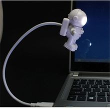 Lamp Laptop Computer Led-Night-Light Astronaut Reading Kids Portable Mini for PC Notebook