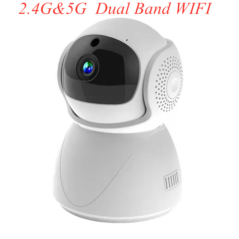 2.4G 5G dual-band Wifi Security 360 Degree PTZ 1080P IP Cameras Home CCTV Camera Surveillance IR Night Vision Baby Monitor