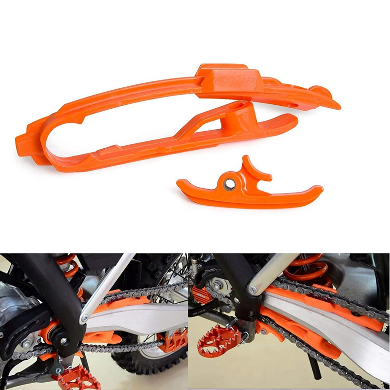 Plastics Chain Slider Sliding Swingarm Guard Guide Clamp for KTM SX SXF 125 200 250 350 450 525 2011-2015 enlarge